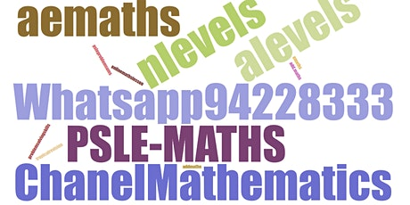 Online Maths Lessons for PSLE Primary 6 students (Sec4 N/O levels too!) tickets