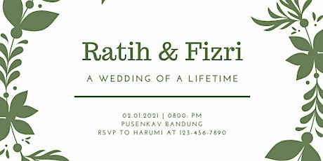 Wedding or Ratih and Fizri  tickets