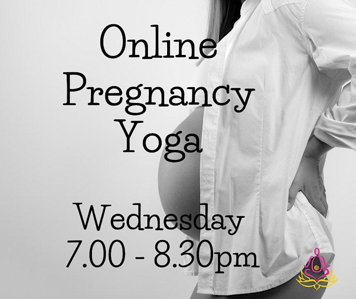 Online Pregnancy Yoga Class With Yoga Nidra - Every Wednesday Evening image