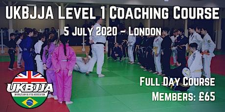 UKBJJA Level 1 Coaching Course - London tickets