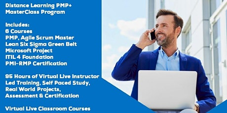 LIve Instructor Led Distance Learning PMP + MasterClass Program tickets