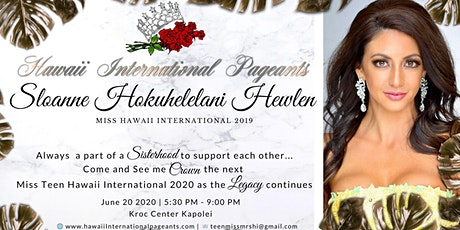 Support Ms. Hawaii International 2019 tickets