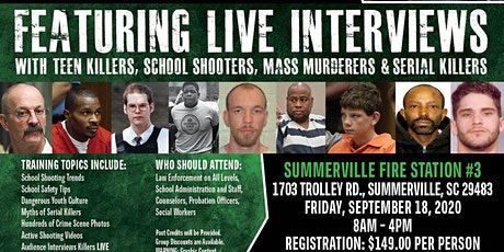 Profiling Teen Killers, School Shooters, Mass Murderers and Serial Killers by Phil Chalmers-Summerville, South Carolina-Sept. 18,2020 tickets