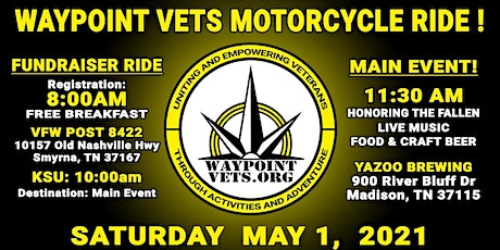 Waypoint Vets Motorcycle Ride! tickets