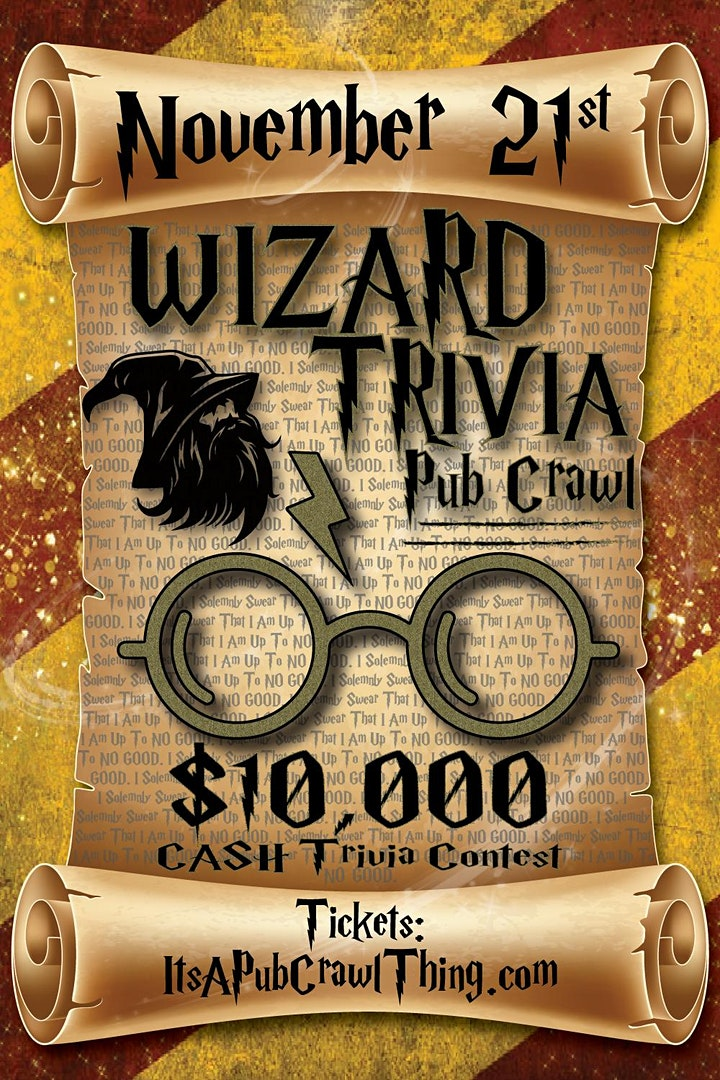 Kansas City - Wizard Trivia Pub Crawl - $15,000+ IN TRIVIA PRIZES! image