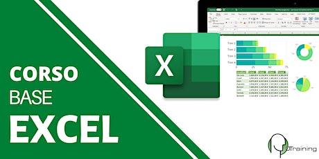 Impara Microsoft Excel Base guidato da un esperto biglietti