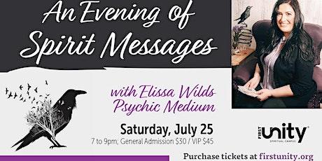 An Evening of Spirit Messages with Elissa Wilds tickets
