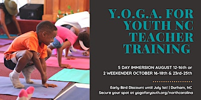 Y.O.G.A. for Youth | Immersive Teacher Training (Durham, NC)