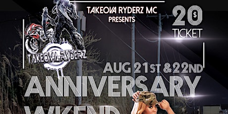 TakeOva Ryderz 2020 Anniversary Party tickets