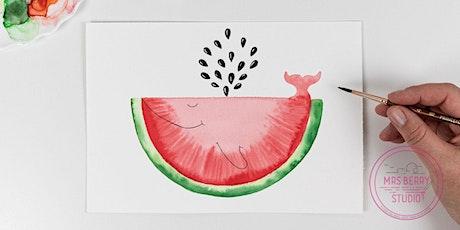 Ferienkurs Watercolor für Kinder und Jugendliche in den Sommerferien KW32 Tickets