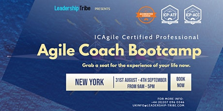 Agile Coach Bootcamp (ICP-ATF & ICP-ACC) | New York - August 2020 tickets