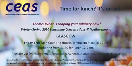 Children's Ministry - GLASGOW Lunchtime Conversation September 2020 tickets