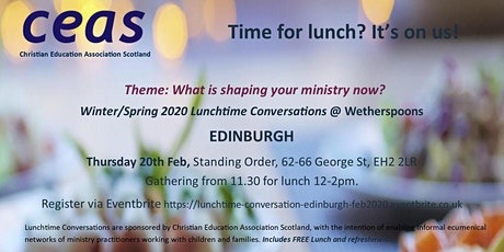 Children's Ministry - EDINBURGH Lunchtime Conversation August 2020 tickets