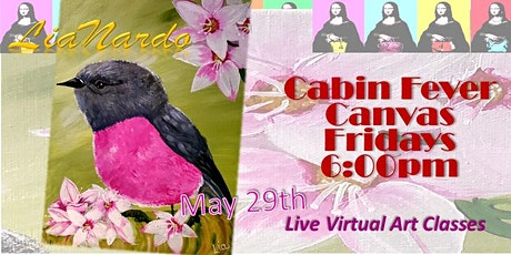Cabin Fever Canvas - Live Online Paint & Sip tickets