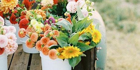 Sunflowers & Sangria, a fall flower workshop tickets