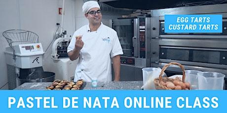Pastel de Nata - Portuguese Custard Tarts Online Baking Class tickets