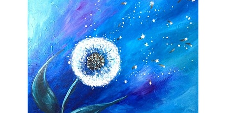ONLINE Paint Class: Beautiful Dandelion!  (08-21-2020 starts at 7:00 PM) tickets