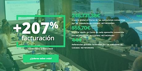Eventos networking en Madrid para emprendedores.  Encuentro Online Coemac entradas
