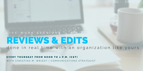 Lunch & Learn with a LIVE work session | WrightNow Results boletos