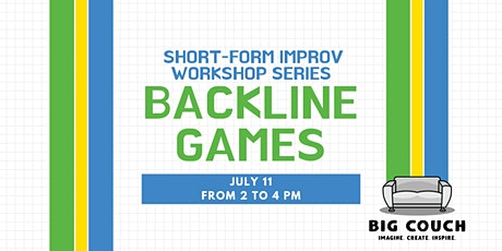 Short-form Improv Workshop Series: Backline Games tickets