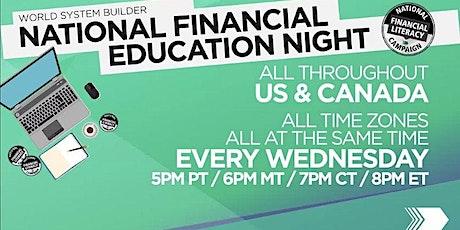 Personal Financial Workshop 101 - A National Webinar for Financial Literacy tickets