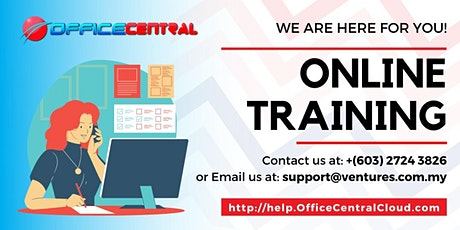 1 Day Online OfficeCentral Training (Accounting, CRM, Procurement, POS) tickets