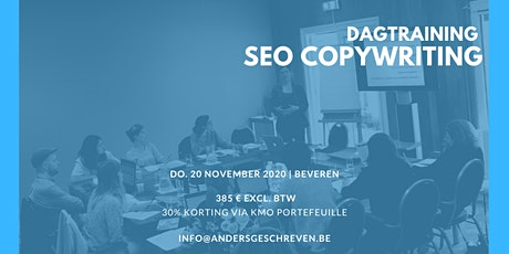 SEO copywriting workshop | 20/11/2020 | Beveren tickets