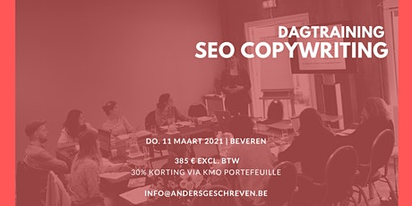 SEO copywriting workshop | 11/03/2021 | Beveren tickets