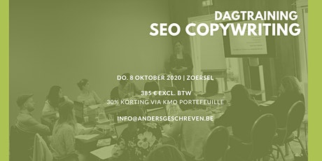 SEO copywriting workshop | 08/10/2020 | Zoersel tickets