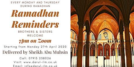 Ramadhan Reminders tickets