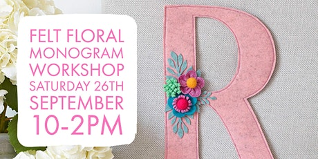 Felt Monogram Art tickets