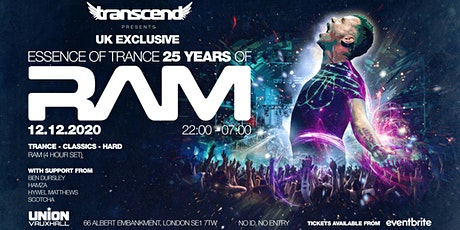 Transcend pres. Essence of Trance - 25 Years Of RAM tickets