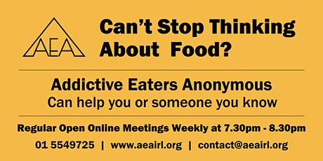 Addictive Eaters Anonymous hold regular open online meetings weekly tickets