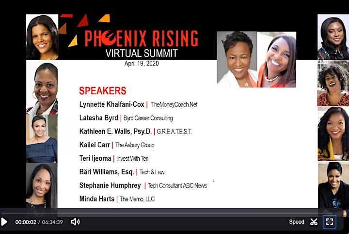 Phoenix Rising Virtual Summit Streaming Replay image