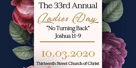 33rd Annual 13th Street Church of Christ Ladies' Day tickets