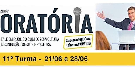 CURSO DE ORATÓRIA - PRESIDENTE PRUDENTE - 11º TURMA ingressos