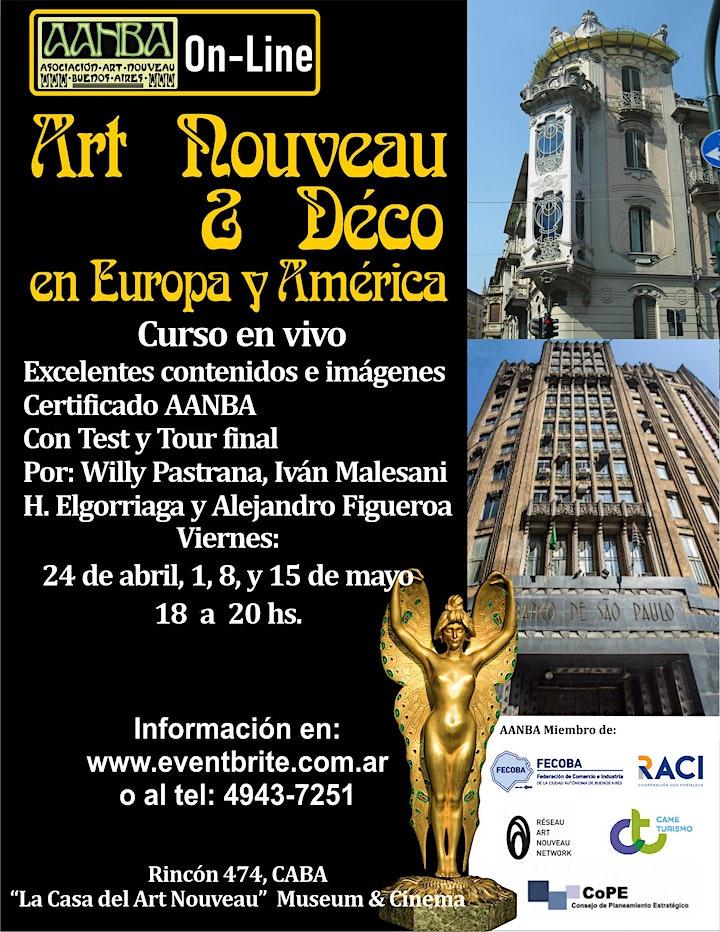 Imagen de Curso AANBA en vivo Art Nouveau y Déco en Europa y América, turismo patrimo
