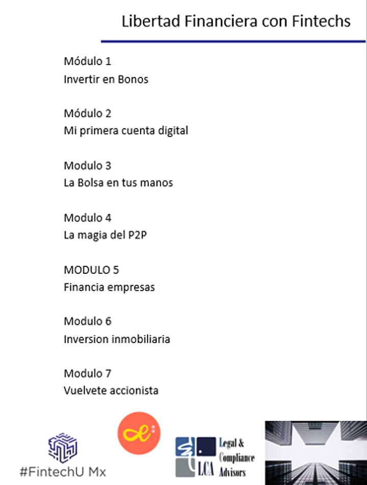 Imagen de Workshop Online Libertad Financiera con Fintechs