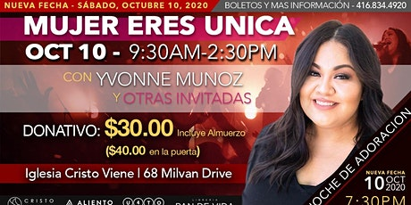 Mujer Eres Unica tickets