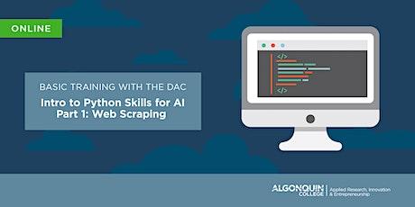 AC DAC - Python Skills for Ai - Part 1: Intro to Python [VIRTUAL] tickets