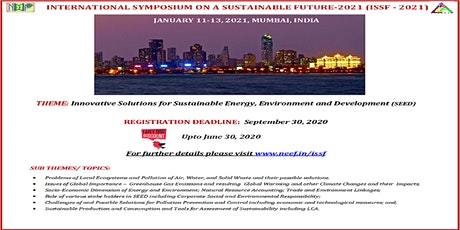 INTERNATIONAL SYMPOSIUM ON A SUSTAINABLE FUTURE-2021 tickets