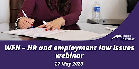 3. WFH – HR and employment law issues tickets