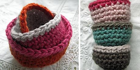 Beginners Crochet LIVE | Nesting Bowls Workshop tickets