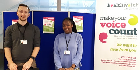 Healthwatch Greenwich - Zoom Call - Signposting, Information and Support tickets