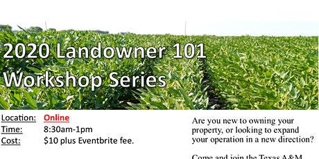 2020 Landowner 101 Workshop Series tickets