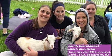 Charity Goat SNUGGLE (Sweet Paws Rescue) tickets