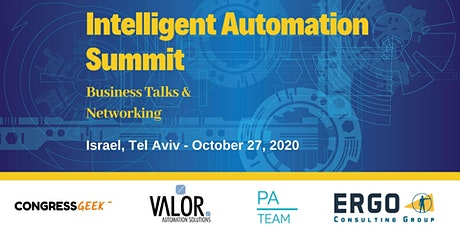 Intelligent Automation Summit - Israel 2020 tickets