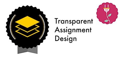 Transparent Assignment Design (Webinar) tickets