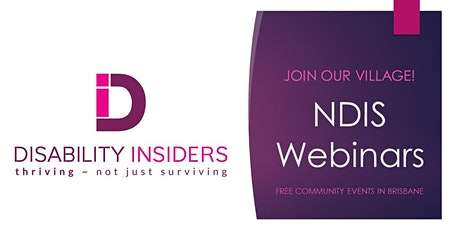 Disability Insiders' Self-Management Support Group Webinar tickets