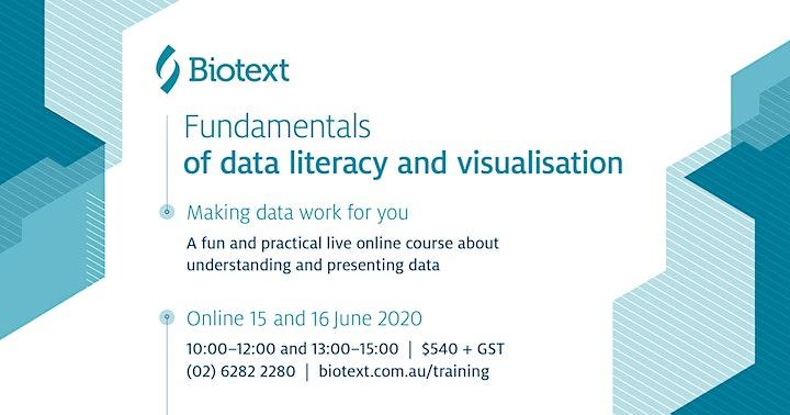 Fundamentals of data literacy and visualisation image